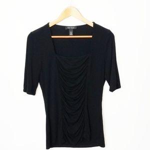 White House Black Market Black Blouse size Small